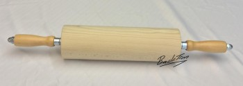 Скалка из гофрированной древесины с деревянными ручками 300 мм