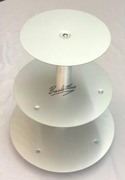 Алюминиевая подставка для торта свадебная 3 уровня алюминий Ø 20 26 32